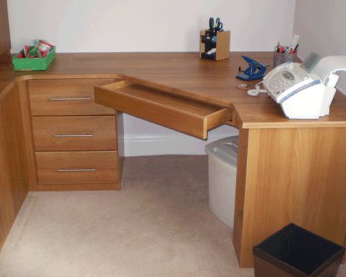 Fitted Home Office Units. Contemporary Corner Desk