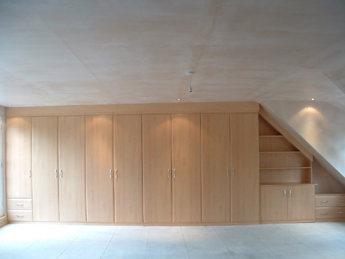 attic stairs ideas - Fitted Loft Wardrobes Furniture Attic